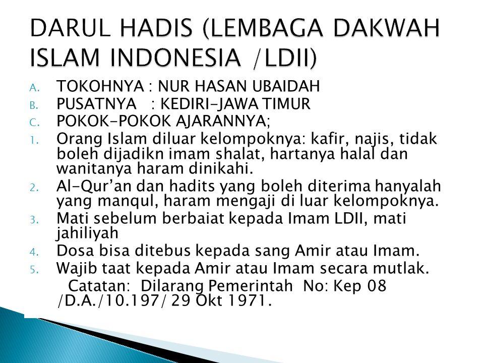 DARUL HADIS (LEMBAGA DAKWAH ISLAM INDONESIA /LDII)