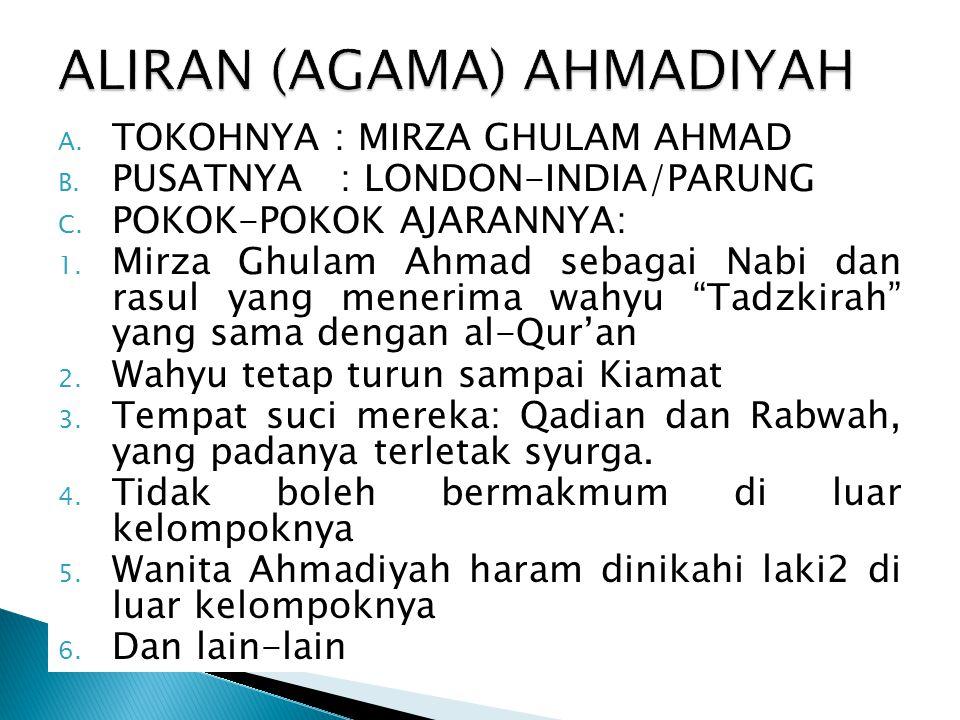 ALIRAN (AGAMA) AHMADIYAH