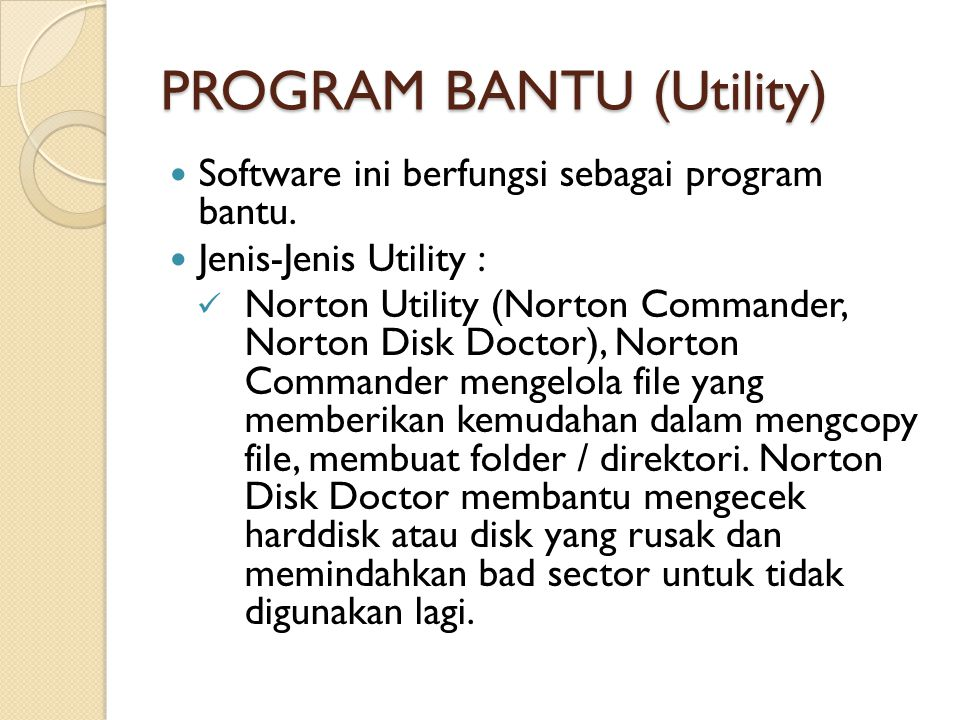 PROGRAM BANTU (Utility)