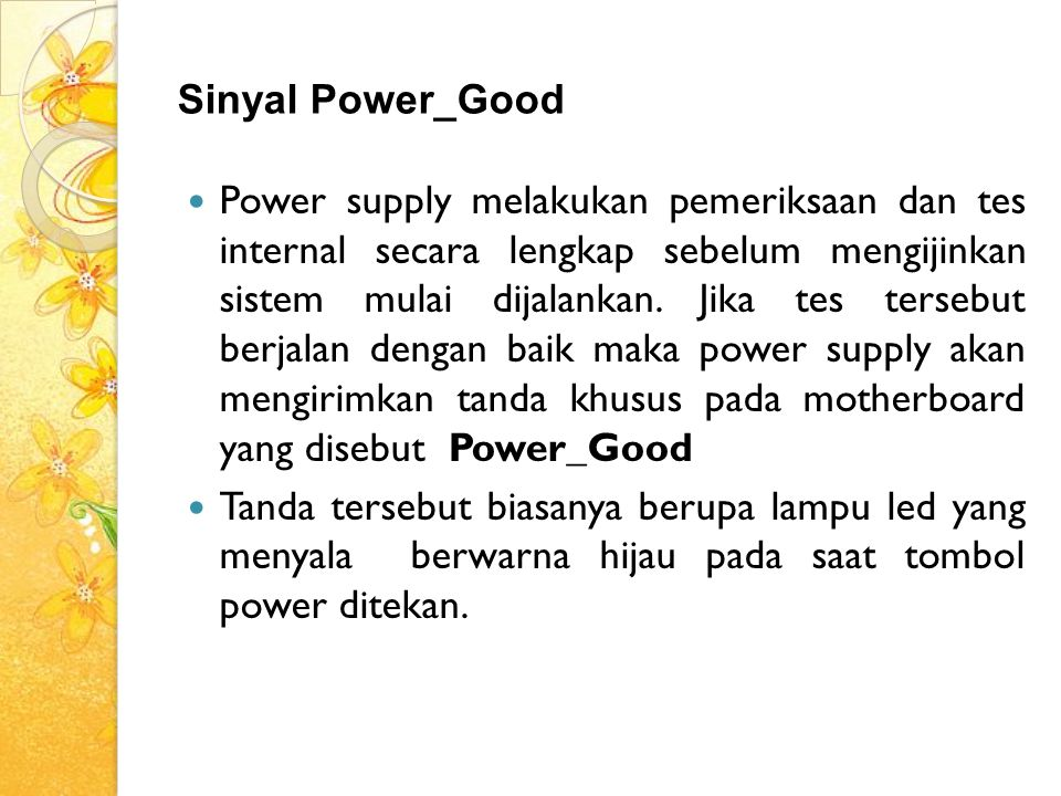 Sinyal Power_Good