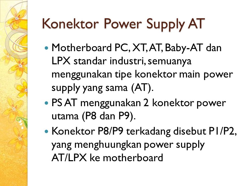 Konektor Power Supply AT