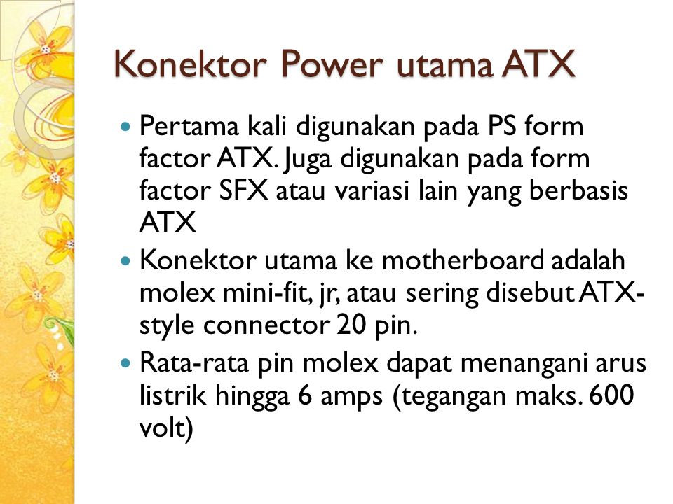 Konektor Power utama ATX