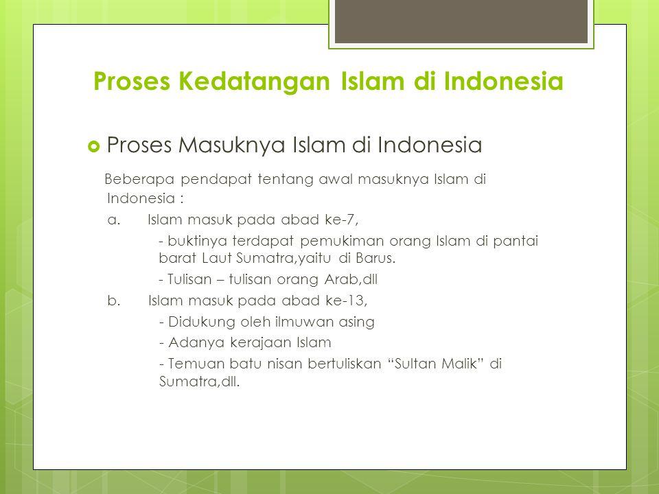 Proses Kedatangan Islam di Indonesia