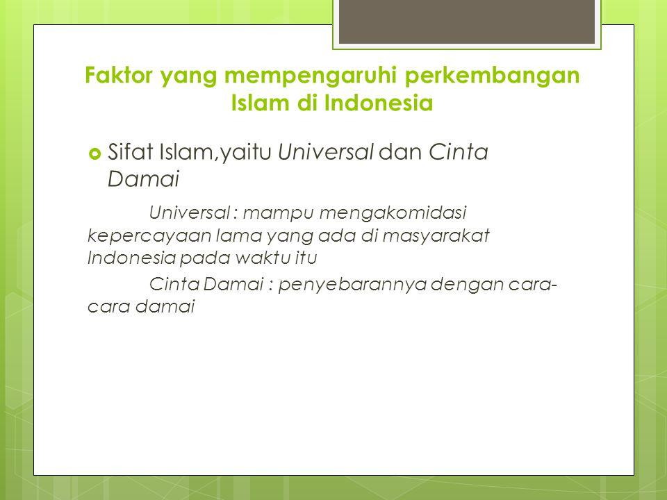 Faktor yang mempengaruhi perkembangan Islam di Indonesia