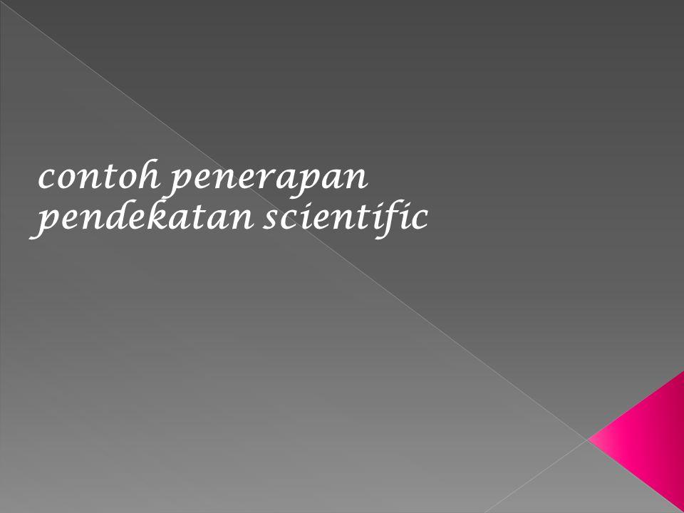 contoh penerapan pendekatan scientific