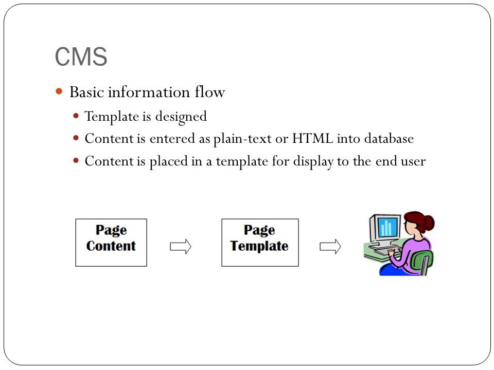 CMS Basic information flow Template is designed