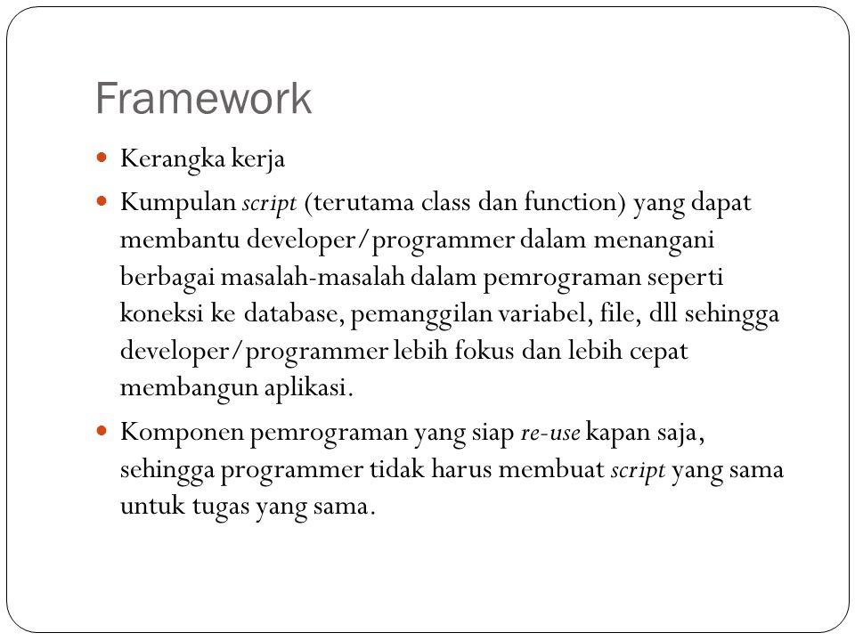 Framework Kerangka kerja