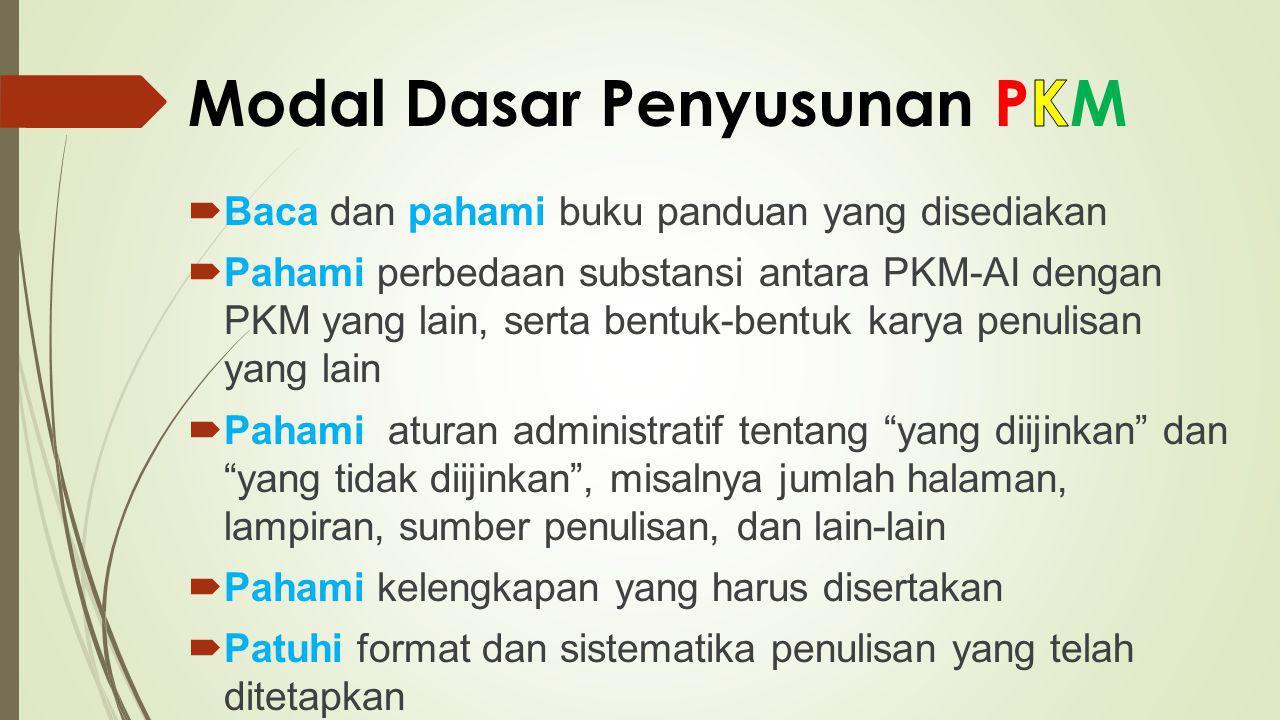 Modal Dasar Penyusunan PKM