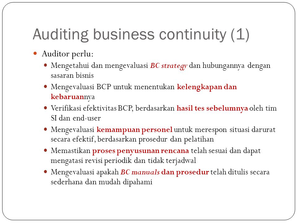 Auditing business continuity (1)
