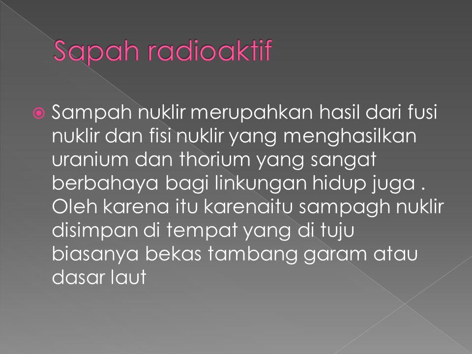 Sapah radioaktif