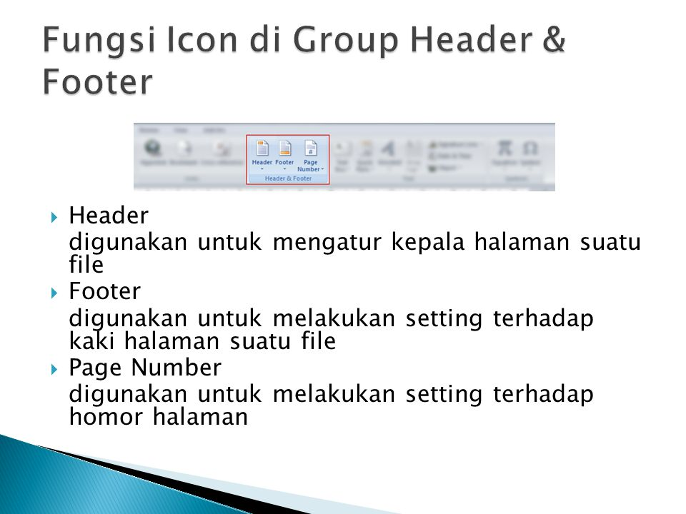 Fungsi Icon di Group Header & Footer
