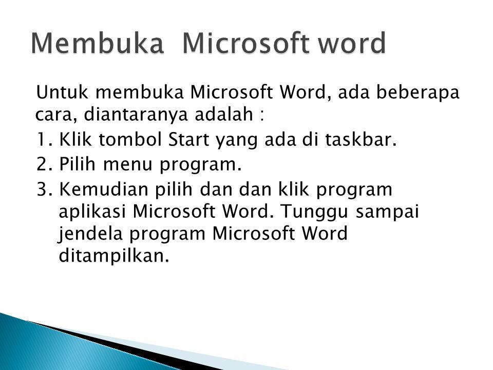 Membuka Microsoft word
