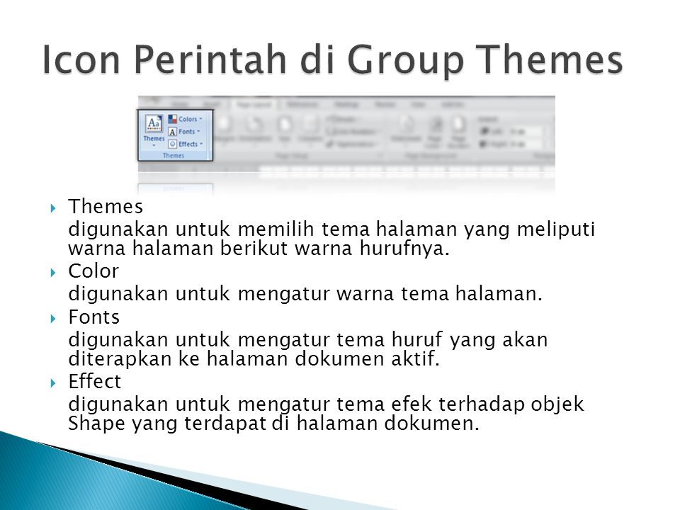Icon Perintah di Group Themes