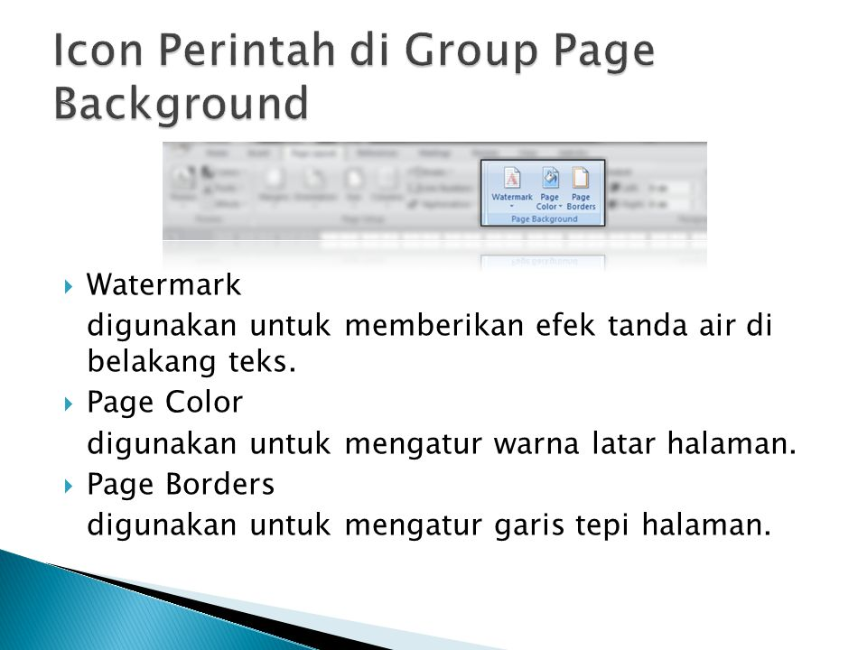 Icon Perintah di Group Page Background