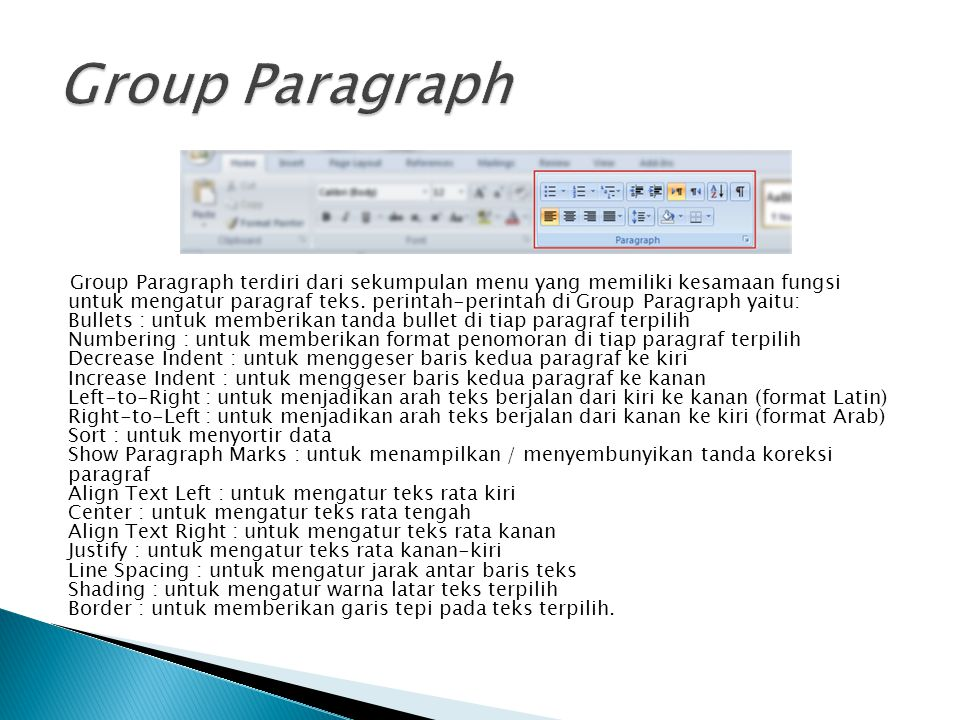 Group Paragraph