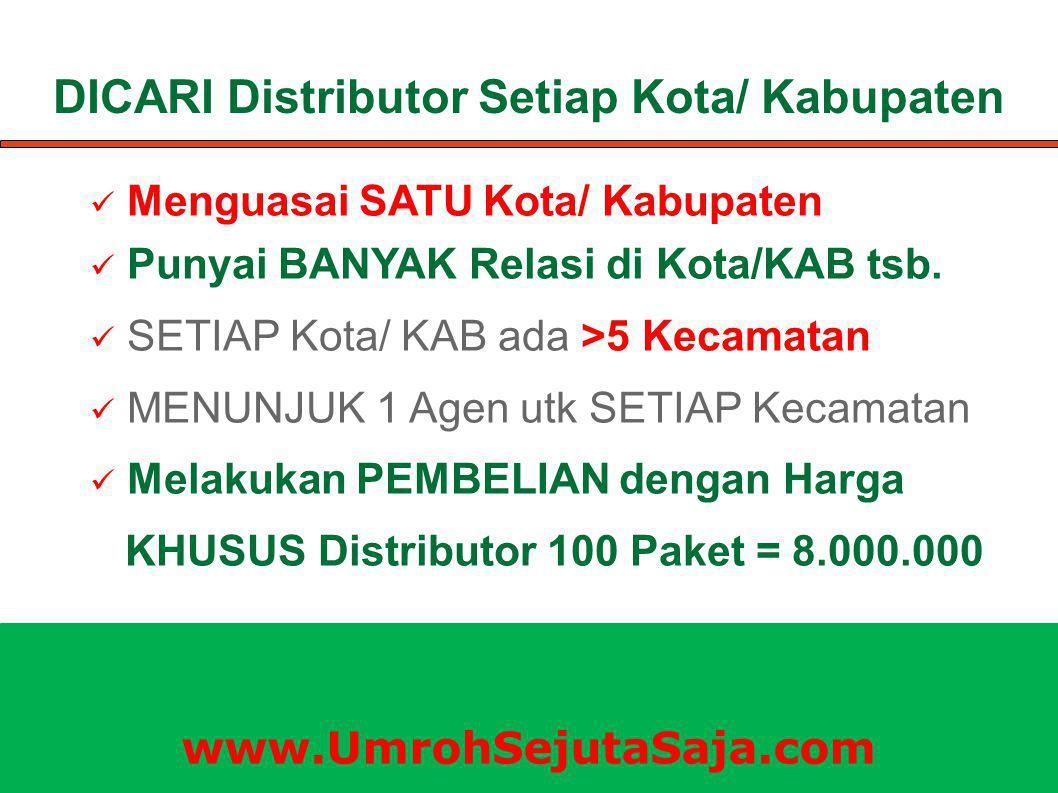DICARI Distributor Setiap Kota/ Kabupaten