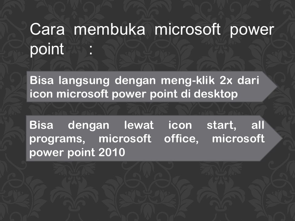 Cara membuka microsoft power point :