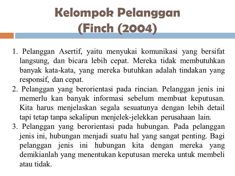 Kelompok Pelanggan (Finch (2004)