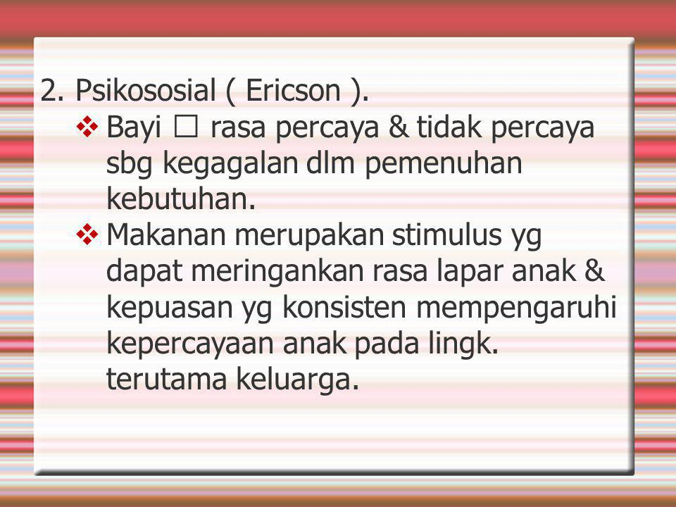 2. Psikososial ( Ericson ).