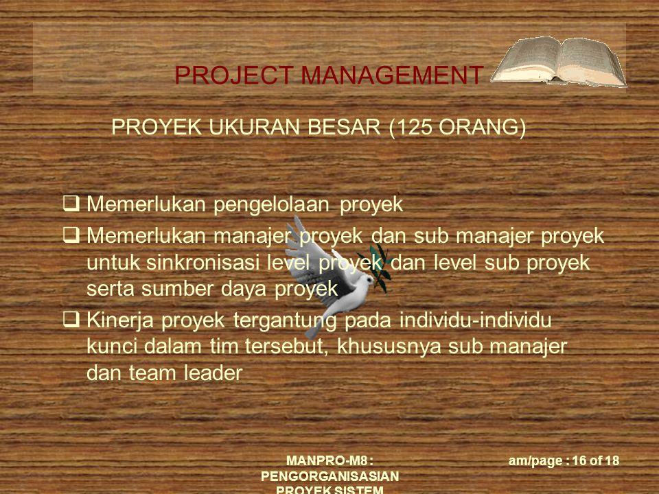 PROYEK UKURAN BESAR (125 ORANG)