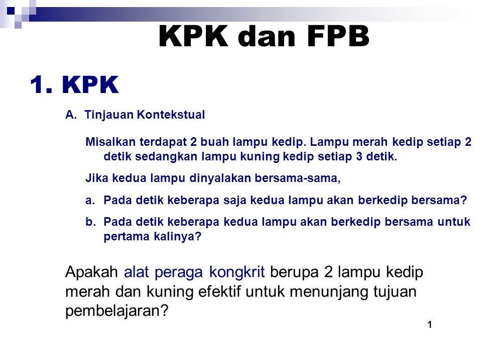 KPK dan FPB 1. KPK. A. Tinjauan Kontekstual.