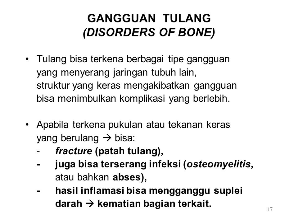 GANGGUAN TULANG (DISORDERS OF BONE)