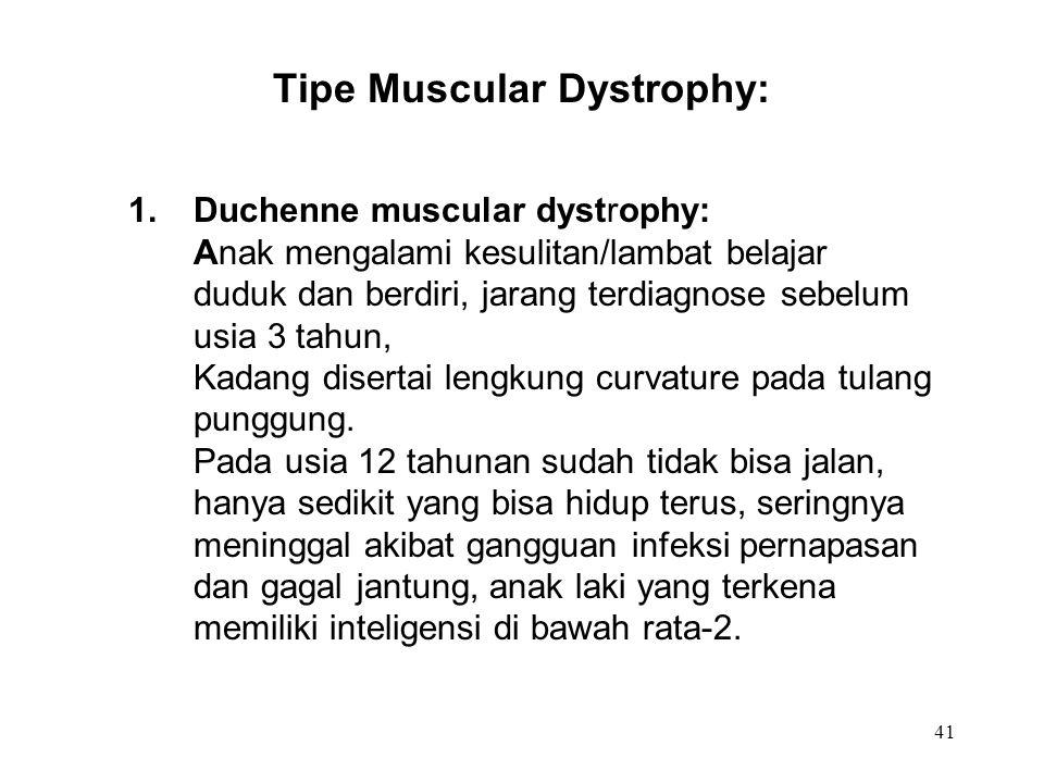 Tipe Muscular Dystrophy: