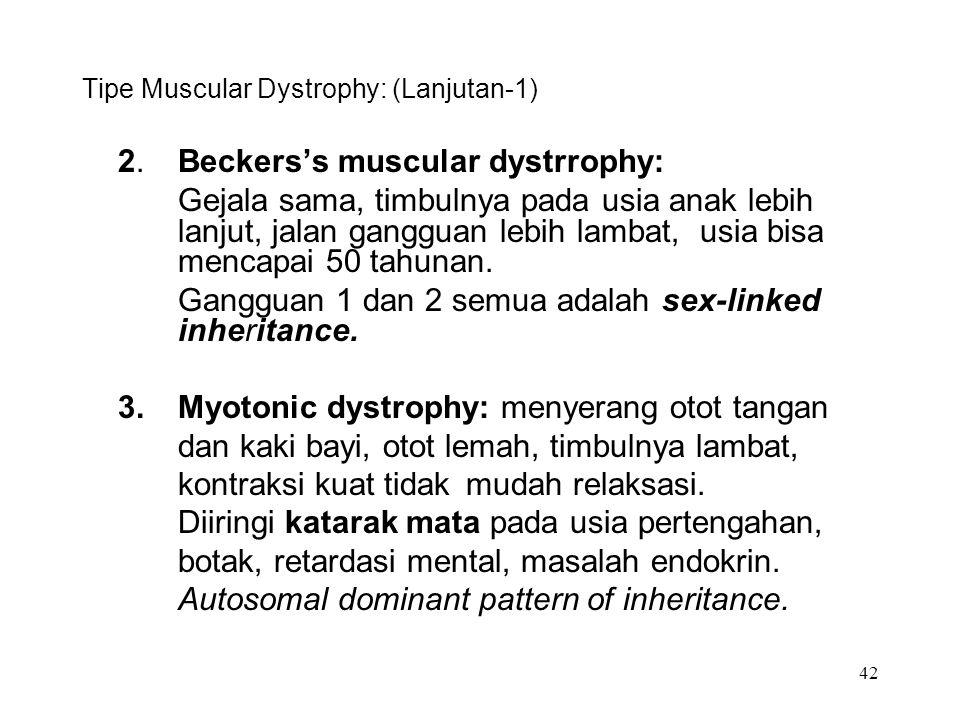 Tipe Muscular Dystrophy: (Lanjutan-1)