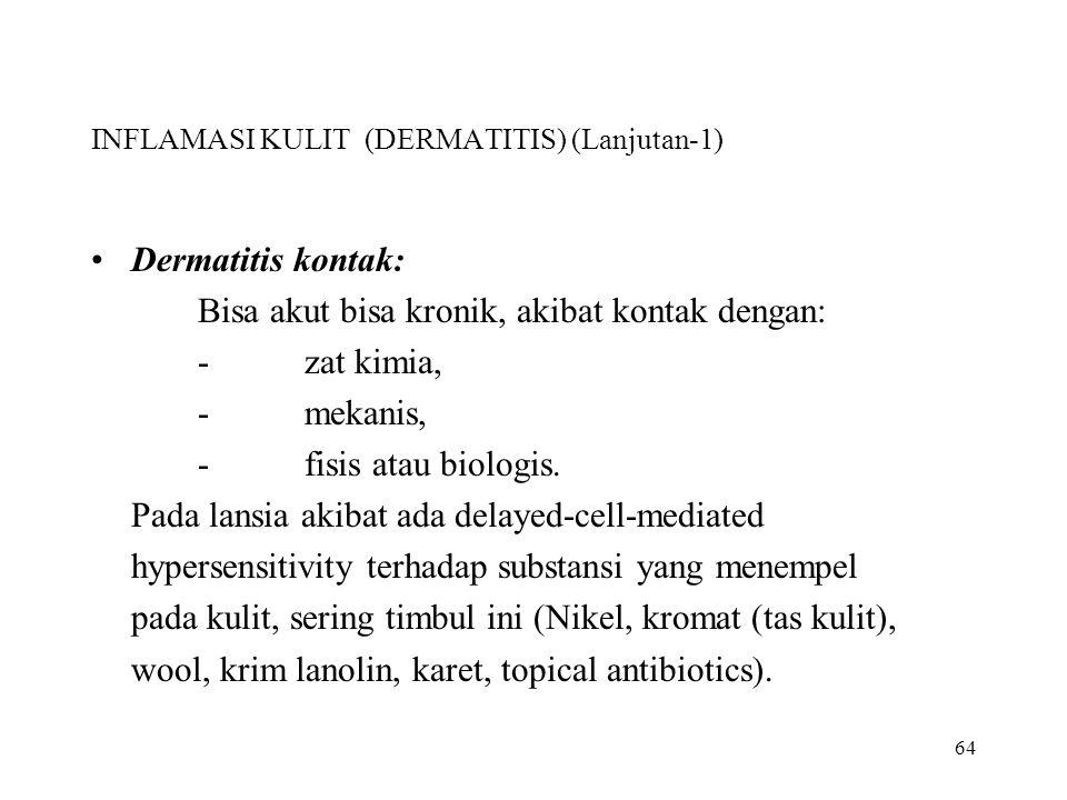 INFLAMASI KULIT (DERMATITIS) (Lanjutan-1)