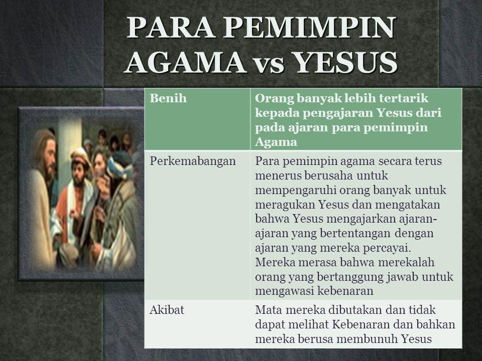 PARA PEMIMPIN AGAMA vs YESUS