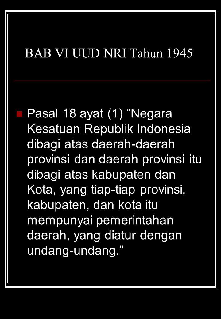 BAB VI UUD NRI Tahun 1945