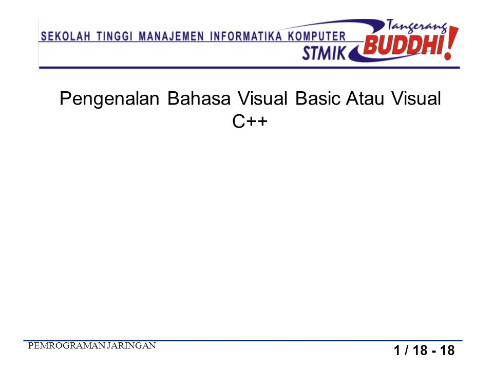 Pengenalan Bahasa Visual Basic Atau Visual C++