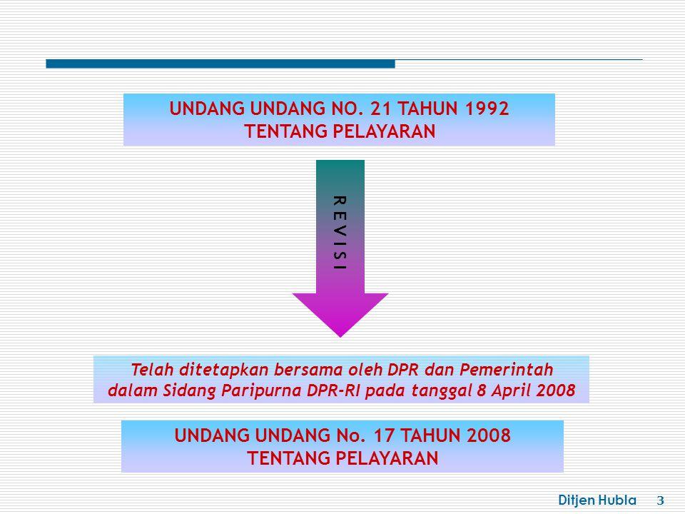 UNDANG UNDANG NO. 21 TAHUN 1992 TENTANG PELAYARAN