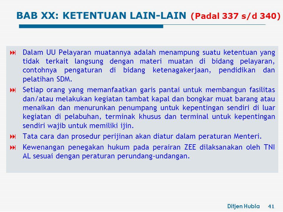 BAB XX: KETENTUAN LAIN-LAIN (Padal 337 s/d 340)