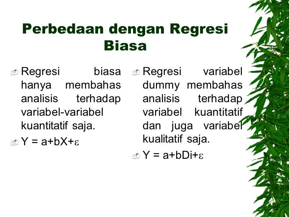 Perbedaan dengan Regresi Biasa