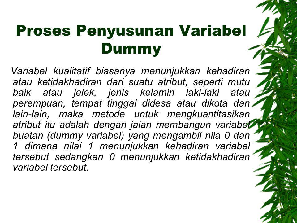 Proses Penyusunan Variabel Dummy