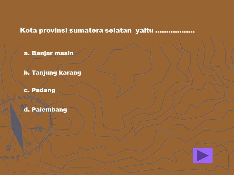 Kota provinsi sumatera selatan yaitu ………………
