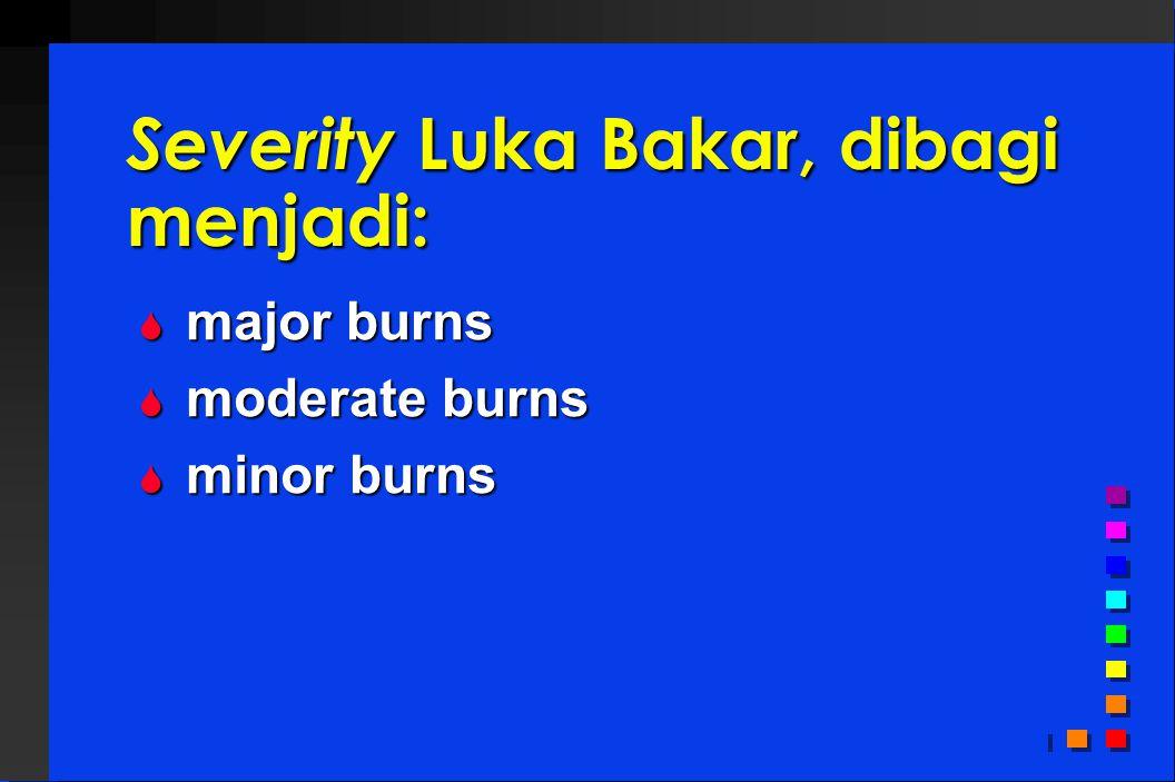 Severity Luka Bakar, dibagi menjadi: