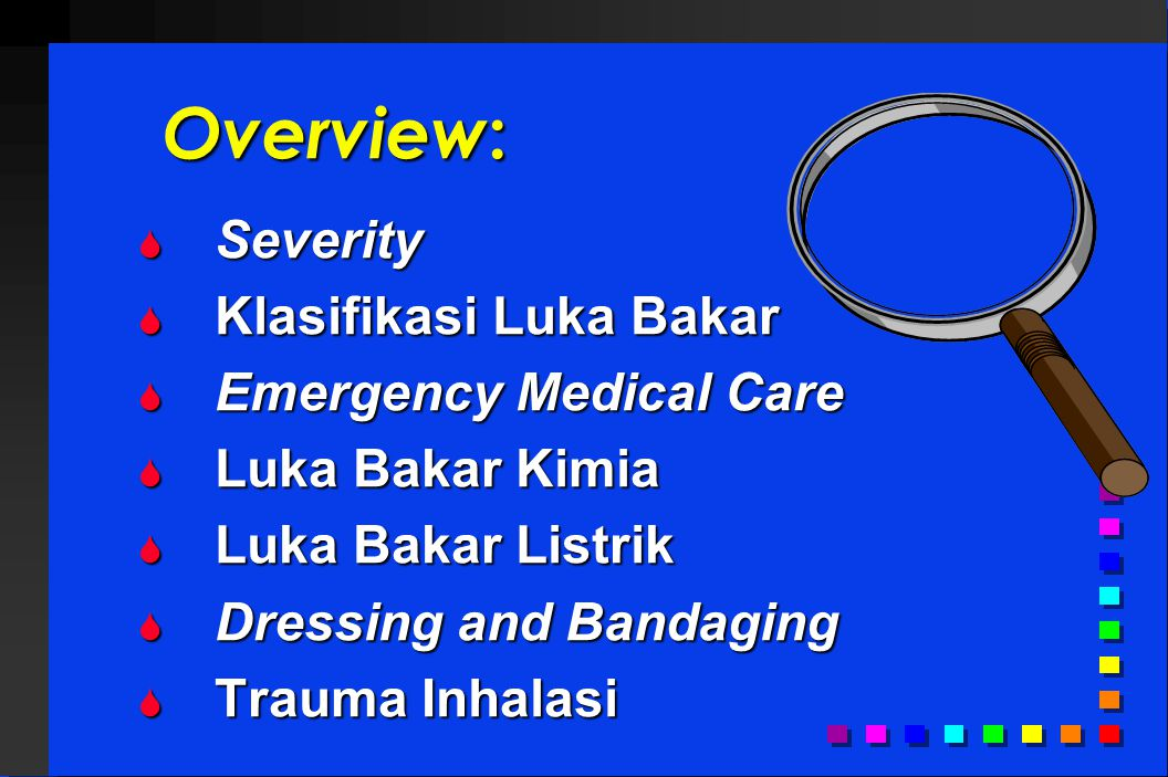 Overview: Severity Klasifikasi Luka Bakar Emergency Medical Care