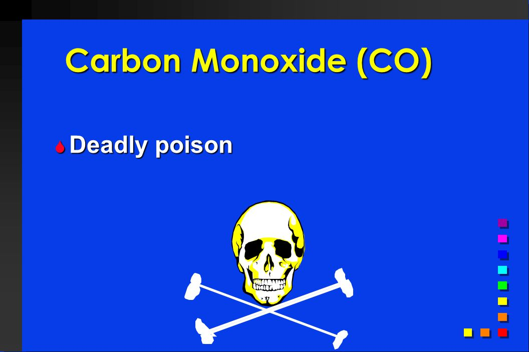 Carbon Monoxide (CO) Deadly poison