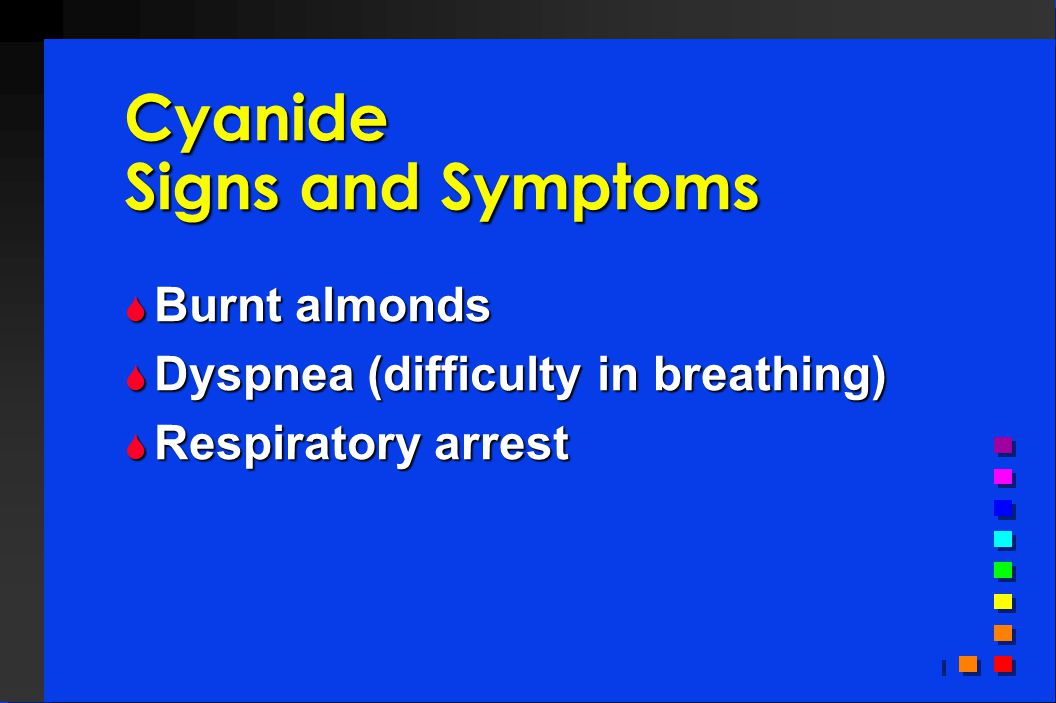 Cyanide Signs and Symptoms