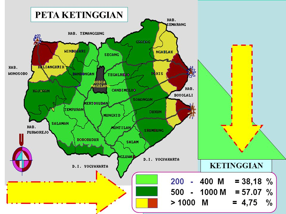 PETA KETINGGIAN KETINGGIAN 200 - 400 M = 38,18 %
