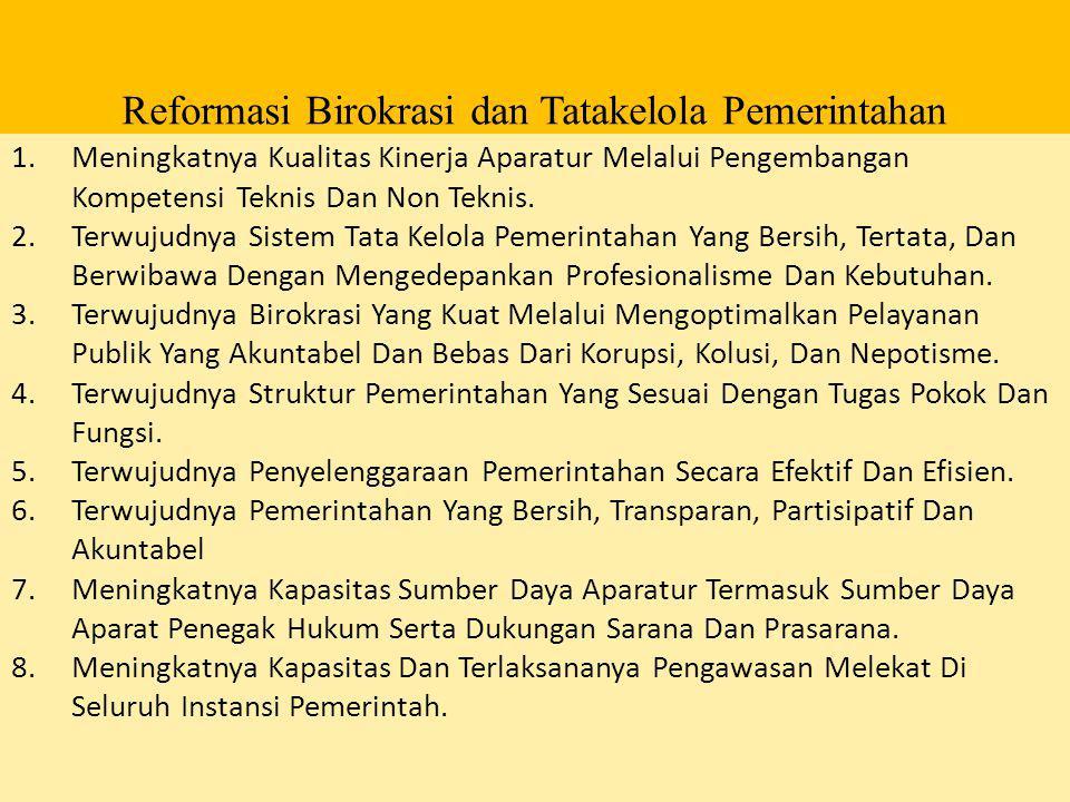 Reformasi Birokrasi dan Tatakelola Pemerintahan