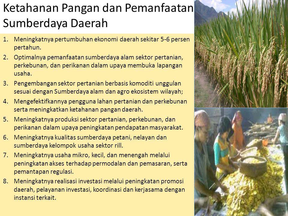 Ketahanan Pangan dan Pemanfaatan Potensi Sumberdaya Daerah
