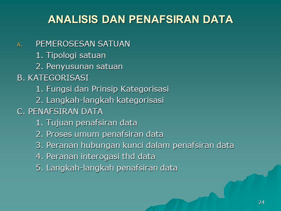 ANALISIS DAN PENAFSIRAN DATA