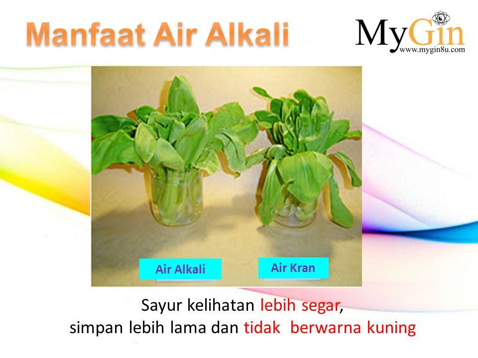 Manfaat Air Alkali Sayur kelihatan lebih segar,