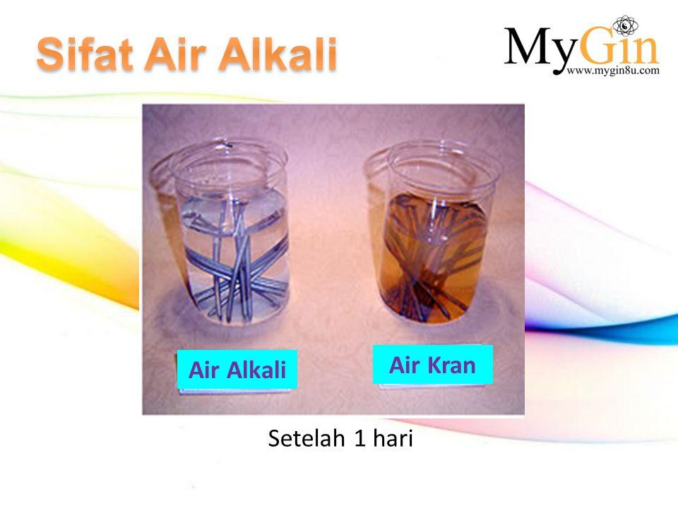 Sifat Air Alkali Air Kran Air Alkali Setelah 1 hari
