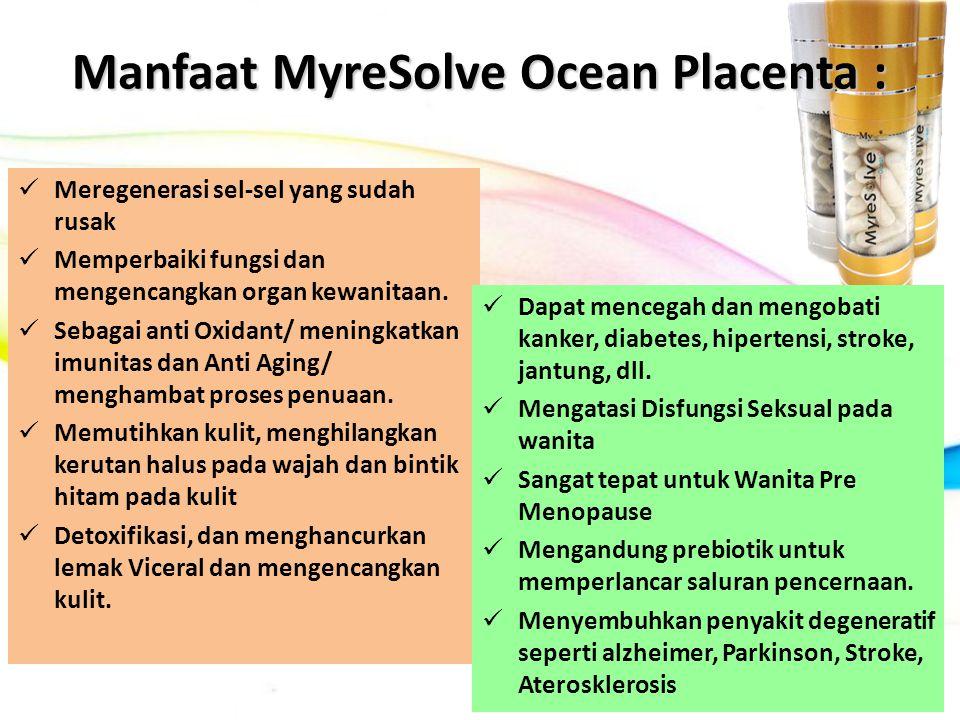 Manfaat MyreSolve Ocean Placenta :