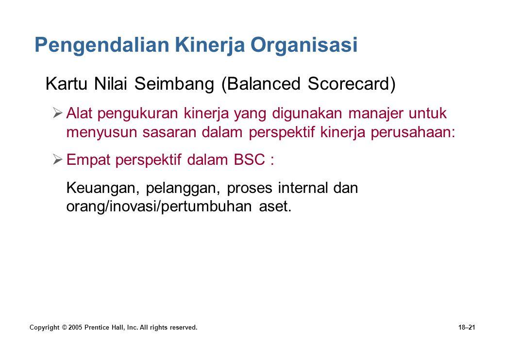 Pengendalian Kinerja Organisasi
