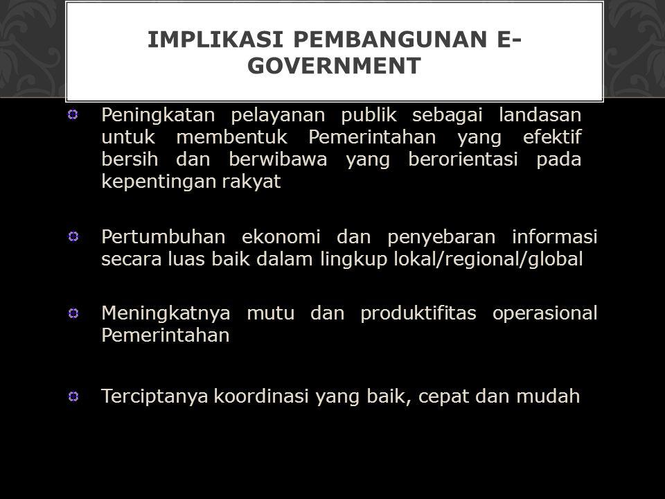 Implikasi Pembangunan e- Government